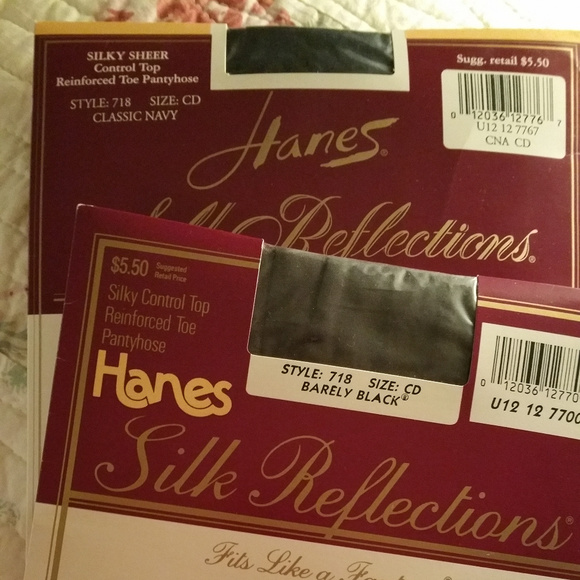 427cdec5f92a0 Hanes Accessories | Silk Reflections Control Top Reinforced Toe ...